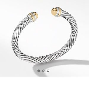 David yurman silver and gold cable bracelet